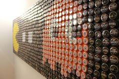 "8 bit bottle cap art ""Nom Nom""   by bowlfrogg"