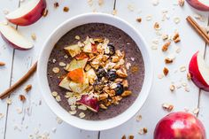Apple + Blueberry Spice Smoothie Bowl Recipe