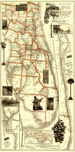 Florida Railroads by Matthews Northrup Co 1894