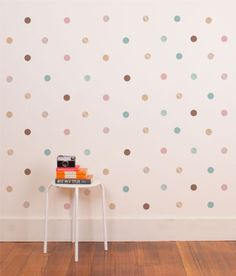 Our lovely little polka dots are a perfect way to add a bit of colour, prettiness and detail to your little one's bedroom or nursery in a nice subtle way. Makes an adorable and versatile gift.   Each polka dot is 4cm in diameter.   Wall Sticker Wall Sticker pack contains:   63 polka dots.