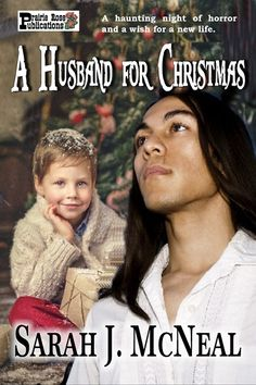 A Christmas novella.   Jane Pierpont and her son, Robin, survived the Titanic, but her husband went down with the ship and the emotional scars of that night have kept her and her son locked into that frightening event. She yearns for a family, a loving husband and maybe another child, but she feels disloyal to Michael's memory whenever Teekonka Red Sky comes near her. A Husband for Christmas by Sarah J. McNeal Link: http://amzn.com/B00M282QV4