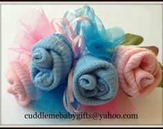Baby Sock Corsage Baby Shower Baby Sock by CuddleMeBabyGifts