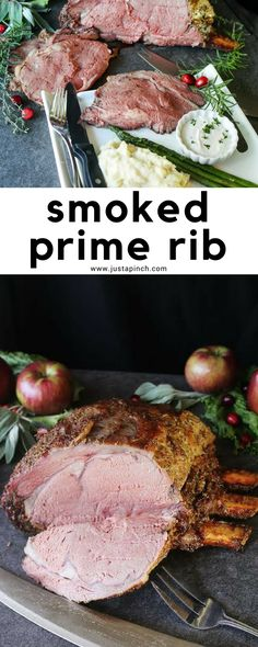 This smoked prime rib recipe is a perfect Christmas dinner recipe! #christmasdinner #christmasdinnerrecipes #primerib #smokedprimerib #dinnertime #dinnerrecipes