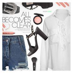 """Street Chic"" by black-fashion83 ❤ liked on Polyvore featuring Valentino, MAC Cosmetics, Lancôme, tarte, NARS Cosmetics, polyvoreeditorial, polyvoreset and stylemoi"