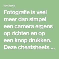 Fotografie is veel meer dan simpel een camera ergens op richten en op een knop drukken. Deze cheatsheets helpen je een handje met fotografie! Photography Tips, Math Equations, Canon, Frame, Photography, Picture Frame, Cannon, Photo Tips, A Frame