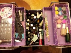 Just organized a case for my nail stuff!!!