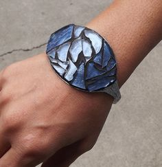 Spoon Cuff Mosaic Silverware Art Bracelet by PiecesofhomeMosaics, $45.00