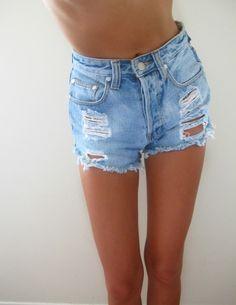 White jean shorts   Fashion   Pinterest   White jean shorts, White ...
