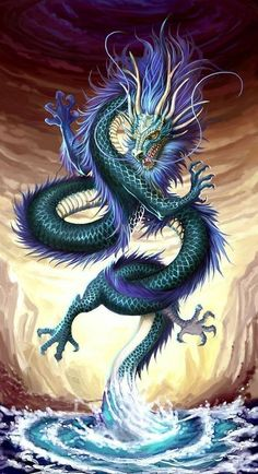 Chinese Dragon Square Diamond Painting Chinesischer Drache Square Diamond Painting This image has get Black And Grey Tattoos, Fantasy Creatures, Mythical Creatures, Fantasy Kunst, Fantasy Art, Water Dragon, Blue Dragon, Sea Dragon, Dragon Ball