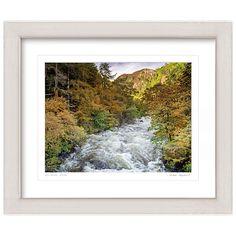 Buy Mike Shepherd - River in Spate Framed Print, 57 x 67cm Online at johnlewis.com