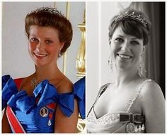 Princess Martha Louise of Norway in her tiara. The King Olav Gift Tiara, given to her by her grandfather for her 18th birthday...