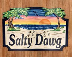 Personalized House Signs for your Beach House, Lake House, Camper or Business. Weather resistance and fade resistance signs made out of High Density Urthane (HDU). Beach House Signs, Beach Signs, Cabin Signs, Home Signs, Beach House Names, Personalized Signs For Home, Cottage Names, Beach Condo, Hand Painted