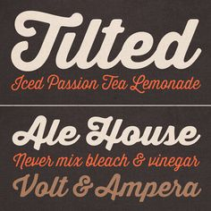 Some samples of this script display typeface by font designer Ryan Martinson.