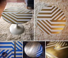 old table + gold spray paint