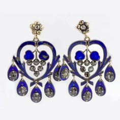 Mid 19th century silver enamel and point cut by EarthlyAdornments2