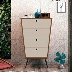 Comoda Prada - Canela Toque/Off White Filing Cabinet, Dresser, Toque, Storage, Prada, Furniture, Creative Decor, Home Decor, Acrylics
