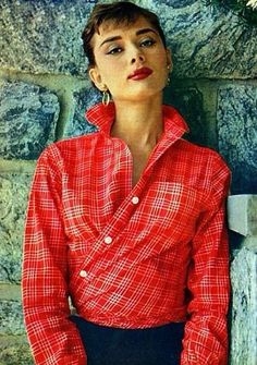 Audrey Hepburn - She wears everything well. If I did this...people would think I just popped out of bed.