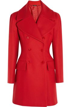 Alexander McQueen|Wool and cashmere-blend felt coat