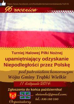 Turniej Halowej Piłki Nożnej upamiętniający odzyskanie Niepodległości przez Polskę pod patronatem honorowym Wójta Gminy Trąbki Wielkie