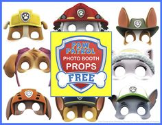 Free Printable Paw Patrol Photo Booth Props