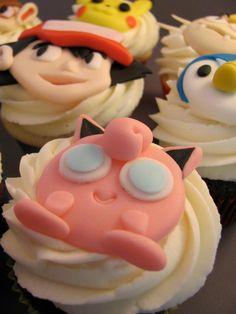 I shouldn't be so excited about Pokemon cupcakes!!! How awesome?!?!