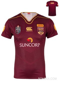 Queensland  NRL Replica Home Shirt Rugby Jersey sizes XS - 3XL #Canterbury