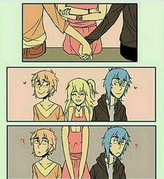 2-.  Chica: ( woa hacer una buen jugada muajaja >:D ) Gay Comics, Cute Comics, Funny Comics, Anime Meme, Otaku Anime, Monster Falls, Funny Jokes, Hilarious, Mini Comic