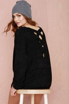 Don't Cross Me Knit Sweater
