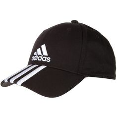 Adidas Performance Performance Cap 3 Stripe Hat ($14) ❤ liked on Polyvore featuring accessories, hats, unisex, adidas hats, adidas cap, adidas, striped hat and caps hats