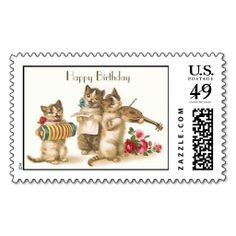 Caterwauling Postage. This is customizable to put a personal touch on your mail. Add your photos or text to design your own stamp that can be sent through standard U.S. Mail. Just click the image to try it out!