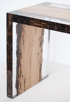 Alcarol has issued the Bent Bench, made from a single Bricola wood plank embedded in resin to preserve patterns made by the Teredo Navalis shipworm.