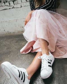 Tulle and sneakers