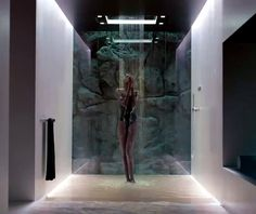 Sensory Sky, shower system by Sieger Design for Dornbracht. Bathroom Spa, Bathroom Interior, Home Interior, Modern Interior, Master Bathroom, Interior Design, Piscina Spa, Waterfall Shower, Luxury Shower