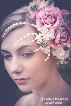 Wedding Wednesday: Wonderful floral headpieces by Amy Swann on @flowerona