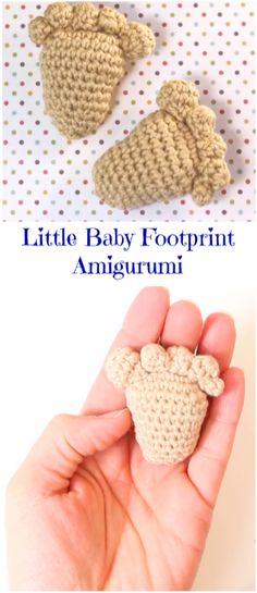 Little baby footprint amigurumi
