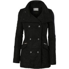 LE3NO Womens Classic Double Breasted Trench Pea Coat Jacket with... ($20) ❤ liked on Polyvore featuring outerwear, coats, trench coat, pea jacket, double breasted pea coat, peacoat trench coat and double-breasted coat #womenscardigan #womensouterwear #womensjacket #scarves #scarf #fashion