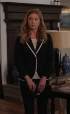 "Revenges ""Emily Thorne"" (Emily Van Camp) Emily's Rag & Bone Bromley Blazer Revenge Season 2, Episode 16: ""Illumination"""