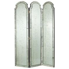 Isabella Mirrored Room Screen by Arteriors Home on Gilt Home; need a full length mirror Mirror Room, Floor Mirror, Mirrors, Mirror Mirror, Boudoir, Dressing Screen, Dressing Room, Bliss Home And Design, Folding Room Dividers