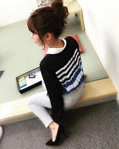 今日の生放送衣装はトップスの後ろが可愛かった #アベプラ by tannana.yamada