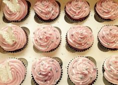 Pink and Silver Engagement Cupcakes x