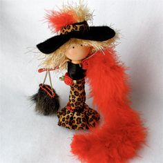 Clothespin Doll Fashionista Peg Doll by HeartStringsHandmade