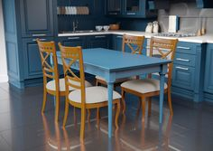 Каталог кухонь | BRISTOL BLUE | Кухни VIRS Bristol, Conference Room, Kitchen, Table, Furniture, Home Decor, Cooking, Homemade Home Decor, Decoration Home