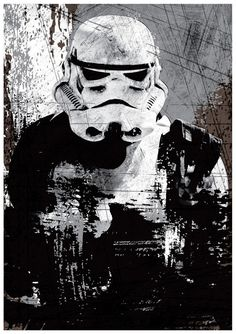 Star Wars All Black Stormtrooper Vintage A3 от Posterinspired