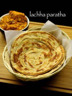 lachha paratha recipe, lachha parantha recipe with step by step photo, video recipe. lachha paratha is a popular paratha recipe with multiple layers Indian Veg Recipes, Vegetarian Recipes, Indian Snacks, Lunch Recipes, Dinner Recipes, Kitchen Recipes, Cooking Recipes, Cooking Dishes, Bread Recipes