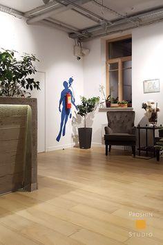 Трафаретная роспись в офисе.  http://rospissten.moscow/
