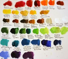 golden acrylic paint colors...love these!