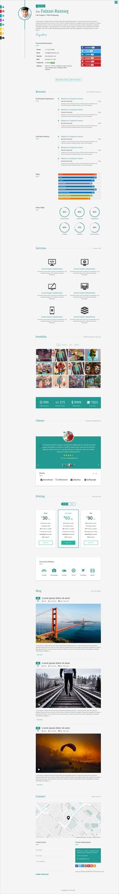 Sobnom is fresh and clean Design 2in1 responsive #HTML bootstrap - bootstrap resume template