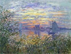 Sunset on the Seine - Claude Monet - WikiPaintings.org