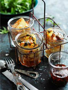 Recipes: Roasted potatoes; chimichurri sauce