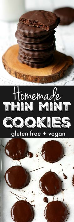 Dark chocolate and mint combine to make these homemade thin mints extra delicious!